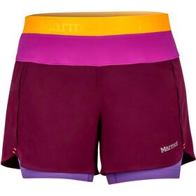 Marmot Pulse Shorts Dam deep plum/neon berry